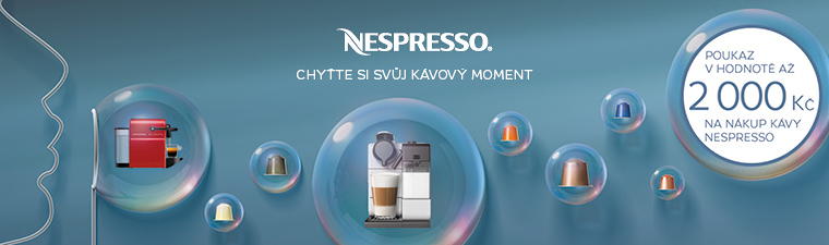 Získejte ke kávovaru Nespresso kávu v hodnotě až 2 000 Kč