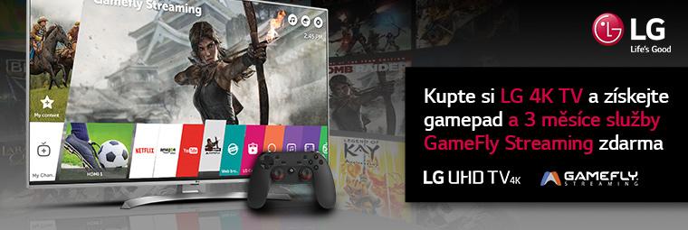 Nová 4K UHD televize LG s dárkem plným her!