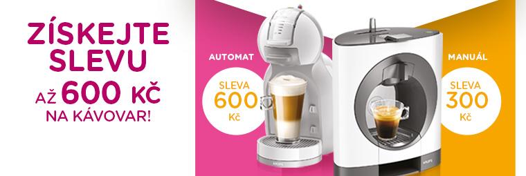 Získejte až 600 Kč na nový kávovar