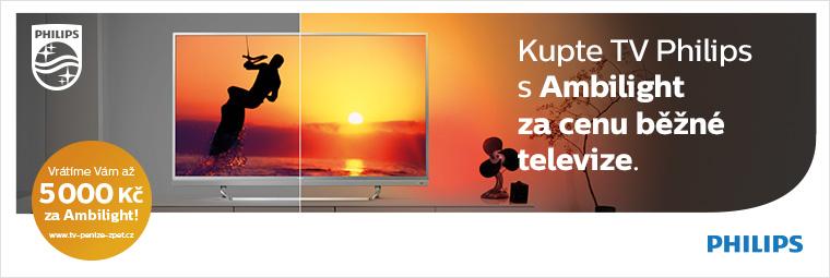 Získejte až 5 000 Kč zpět s televizemi Philips Ambilight