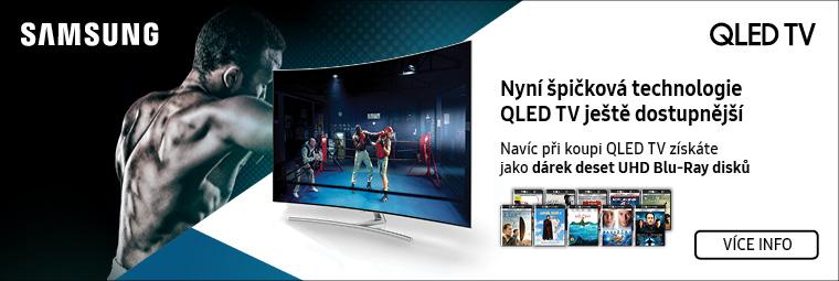 K Samsung QLED TV 10 filmů ve 4K v hodnotě 8 900 Kč