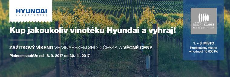 Kupte si vinotéku Hyundai a soutěžte o atraktivní ceny!