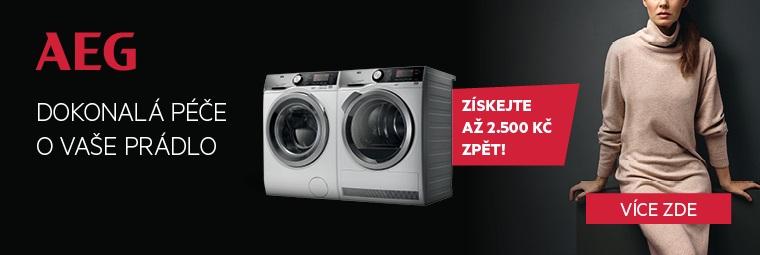 Při nákupu sušičky a pračky AEG dostanete až 2 500 Kč zpět