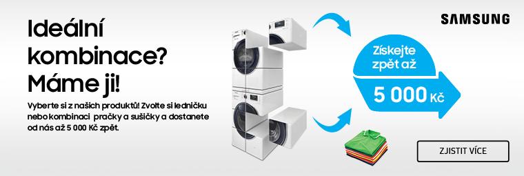 Získejte při nákupu chladničky nebo pračky Samsung až 5 000 Kč zpět