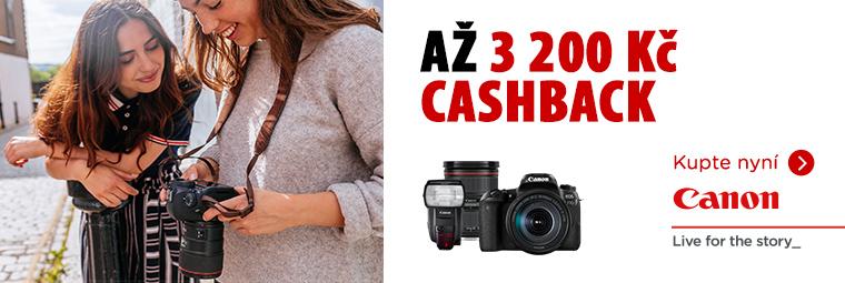 Využijte cashback až 3 200 Kč na fotovýbavu Canon