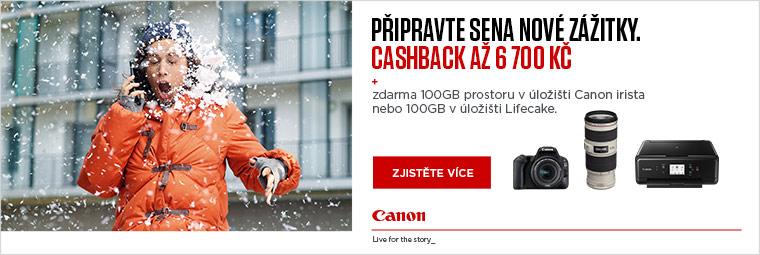 Zimní cashback Canon je plný výhod. Využijte je!