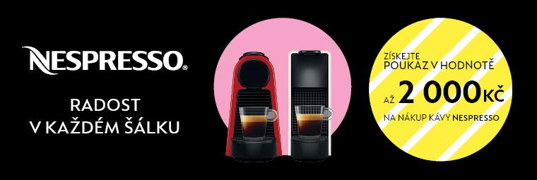 Ke kávovaru Nespresso poukaz na kapsle v hodnotě až 2 000 Kč