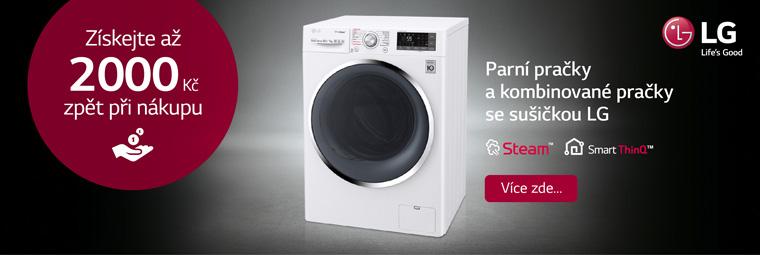 Získejte s pračkami a pračkami se sušičkou LG až 2000 Kč zpět