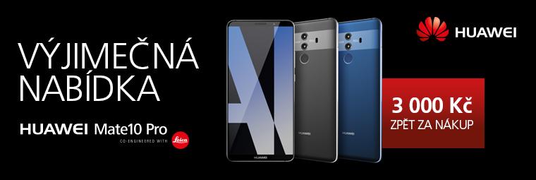 Získejte Huawei Mate 10 Pro o 3 000 Kč levněji