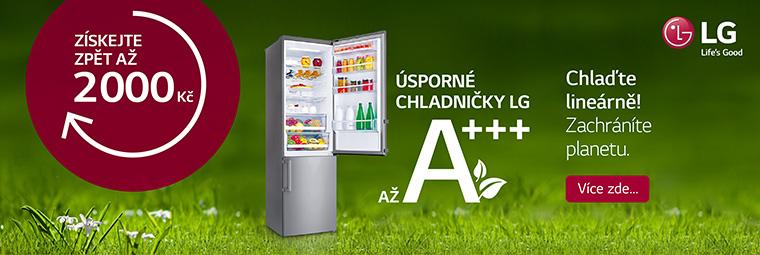 Ušetřete při nákupu chladničky LG až 2 000 Kč