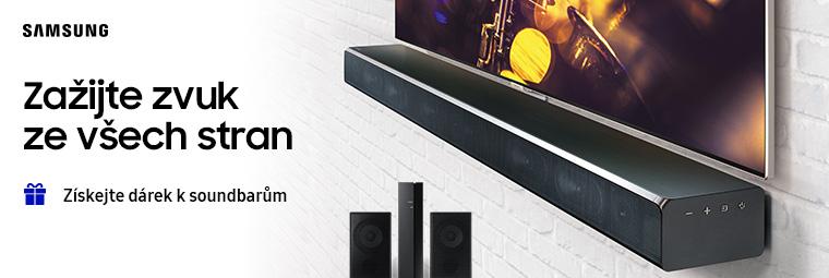 K soundbarům Samsung zadní reproduktor zdarma