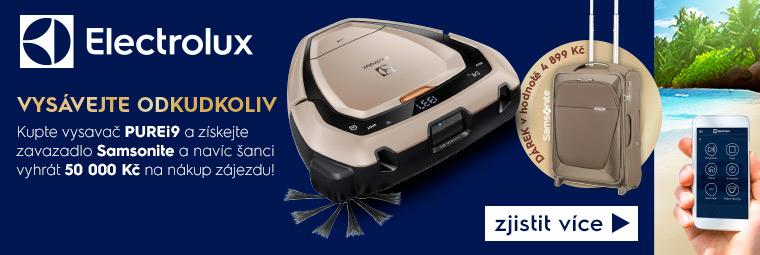 Soutěžte s robotickým vysavačem Electrolux o zájezd za 50 000 Kč!