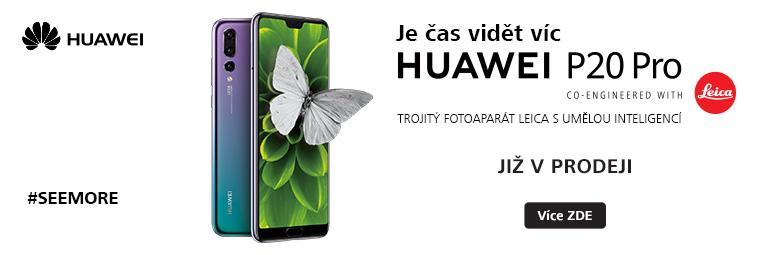 Prodej odstartován! Špičkový telefon Huawei P20 Pro je k mání
