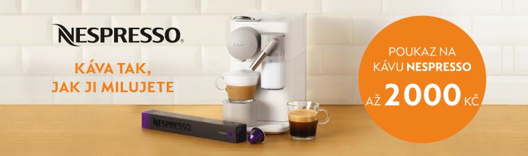 Ke kávovarům Nespresso dárek kapsle dle vlastního výběru