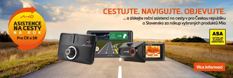 Šťastnou cestu s Mio a roční asistencí na cesty pro ČR a SK