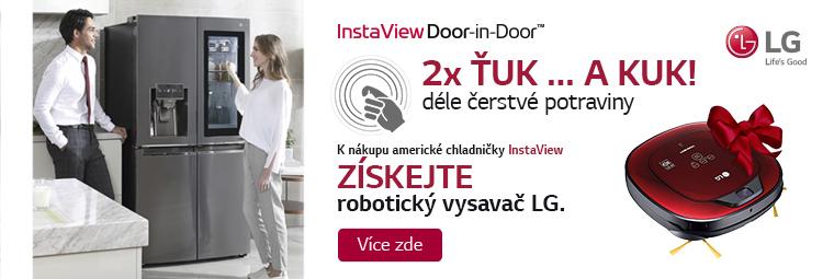 K americké chladničce LG dárek - robotický vysavač
