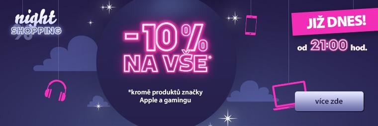 Nightshopping a slevy 10 % jsou zpět!