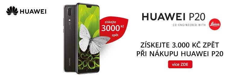 Kupte si Huawei P20 a získáte zpátky 3 000 Kč