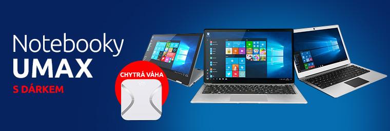Notebook Umax dle vašeho výběru s dárkem