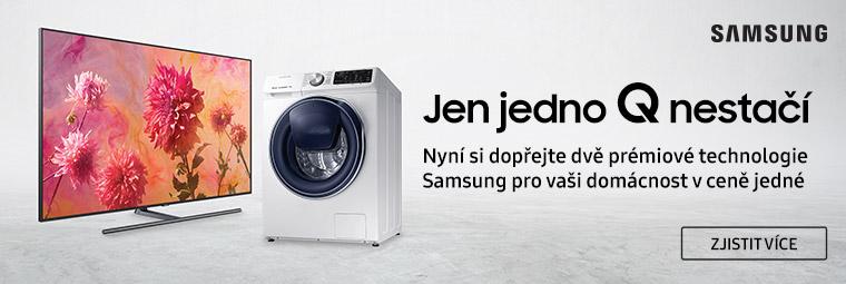 Získejte pračku za korunu jako dárek k televizi Samsung
