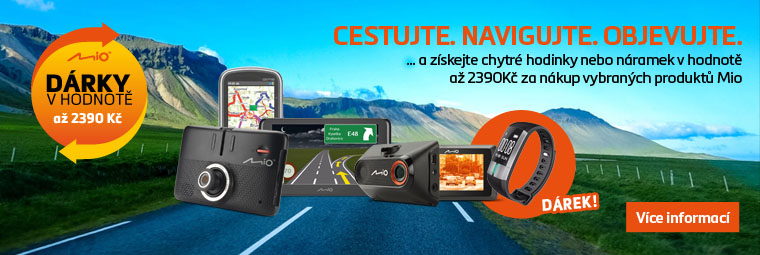K nákupu autokamery nebo navigace Mio získáte dárek zdarma