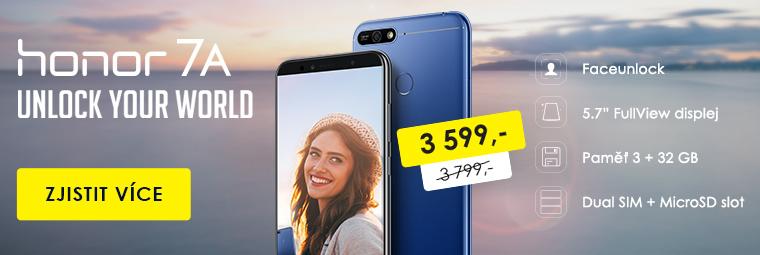 Nový chytrý telefon Honor 7A za levnější cenu