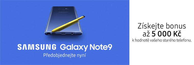 Předobjednejte si Galaxy Note9 a získejte bonus až 5000 Kč