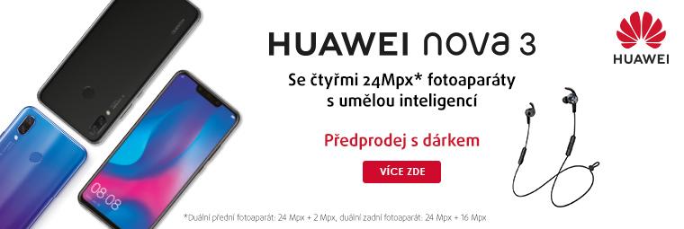 Hravý dárek k předobjednávce Huawei Nova 3