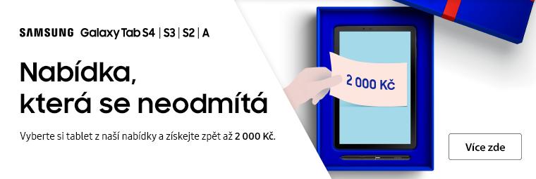 Tablety Samsung s cashbackem až 2 000 Kč