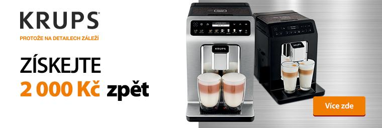 S kávovary Krups získáte zpětný bonus 2 000 Kč
