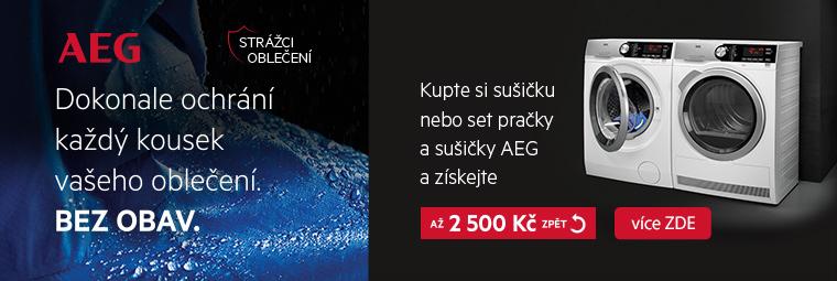 Sušte prádlo s AEG a ušetříte až 2 500 Kč