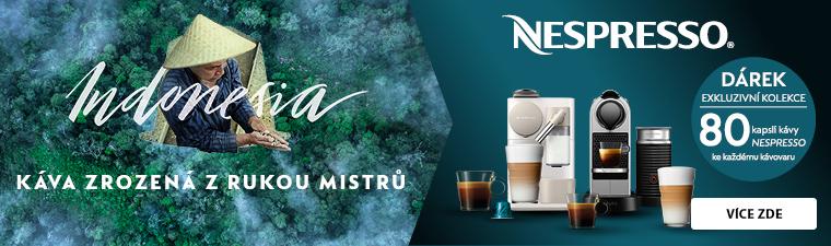 Ke kávovarům Nespresso získáte kolekci 80 kapslí zdarma
