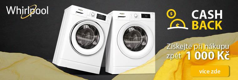 K nákupu vybraných spotřebičů Whirlpool získáte nazpět 1000 Kč