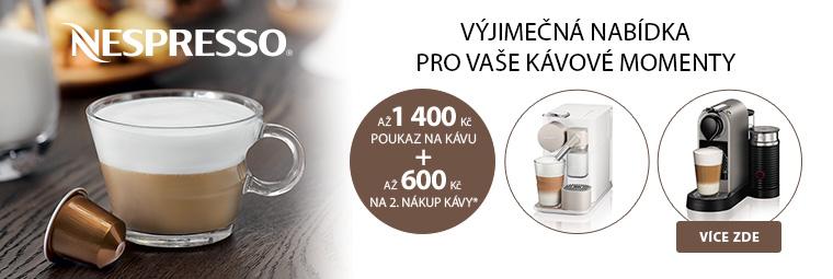 Získejte ke kávovarům Nespresso vouchery na kávu