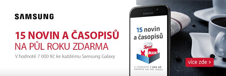 Magazíny k telefonům Samsung Galaxy na půl roku zdarma