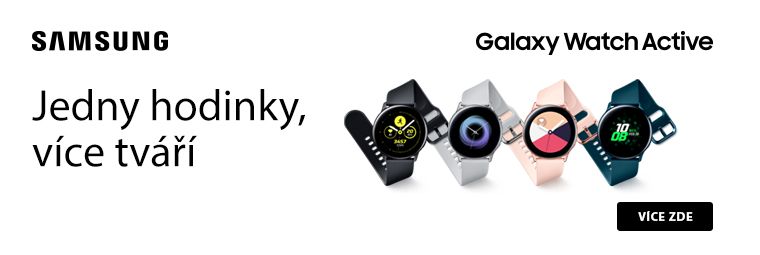 S hodinkami Samsung Galaxy Watch Active budete v obraze