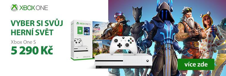 Zvýhodněná cena Xbox One S s hrou podle vašeho výběru