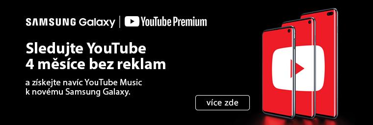 Kupte si telefon Samsung a užijte si YouTube bez reklam až na 4 měsíce