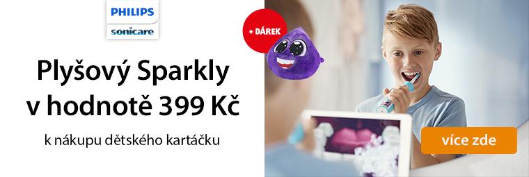 K nákupu dětského elektrického kartáčku plyšový Sparkly zdarma