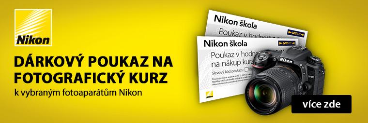K vybraným zrcadlovkám poukázka do Nikon školy focení