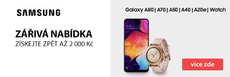 Cashback až 2 000 Kč na vybrané telefony a hodinky od Samsung