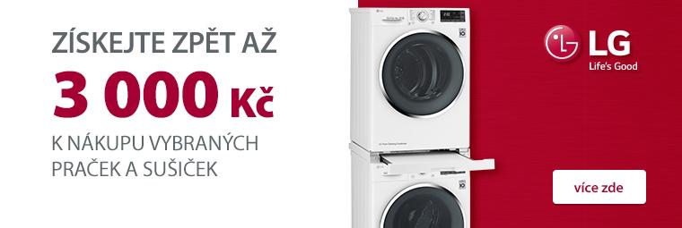 S vybranými LG pračkami a sušičkami ušetříte až 3 000 Kč