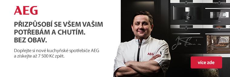 Vybavte si kuchyň AEG pomocníky a získáte zpět až 7 500 Kč