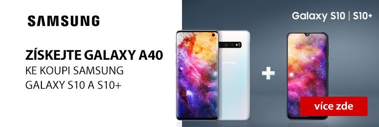 Hvězdná akce: Ke koupi Samsung Galaxy S10 a S10+ zdarma Galaxy A40
