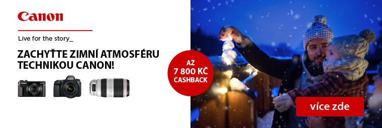 Canon vás v zimě potěší nejen parádními fotkami ale také CashBackem až 7 800 Kč