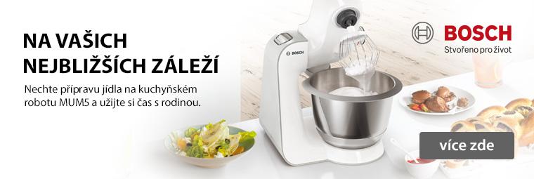 Kuchyňské roboty Bosch už se těší, jak vám pomohou v kuchyni