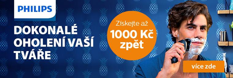 Holicí strojky Philips vám přináší zpětný bonus až 1 000 Kč právě teď