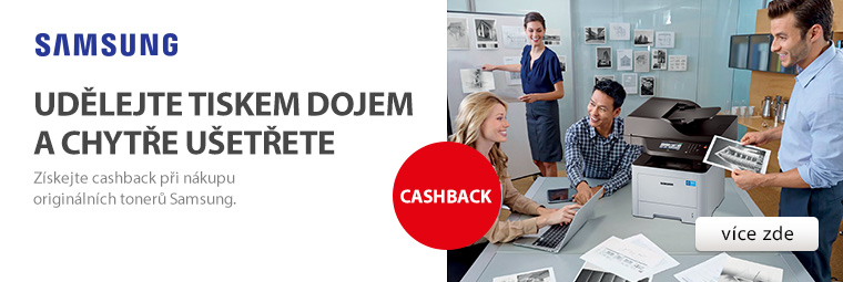 Tonery Samsung s cashbackem: Tiskněte s radostí!
